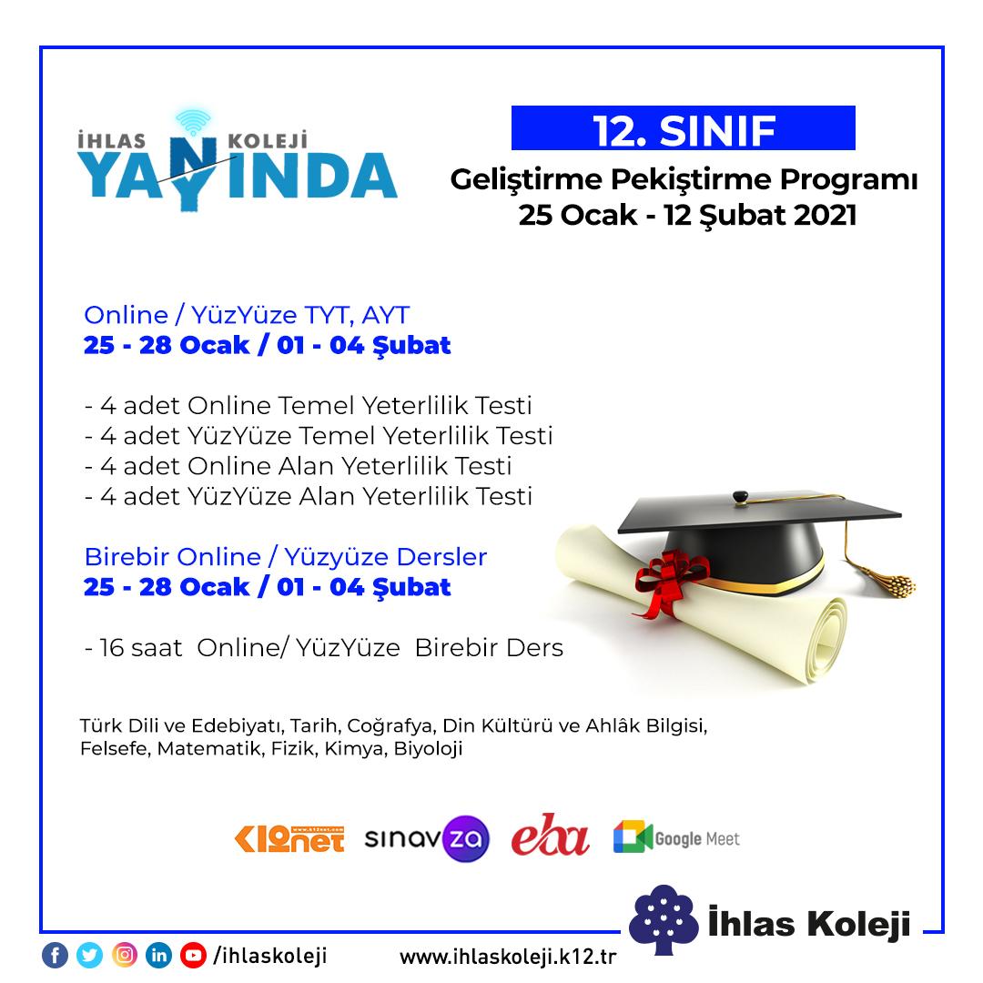 12. Sınıf Geliştirme ve Pekiştirme Programı