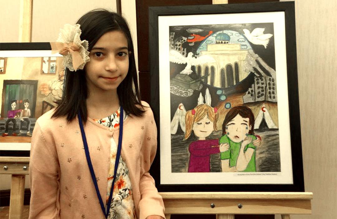 Öğrencimiz Resim Yarışması'nda İlk 10'a Girmeyi Başardı