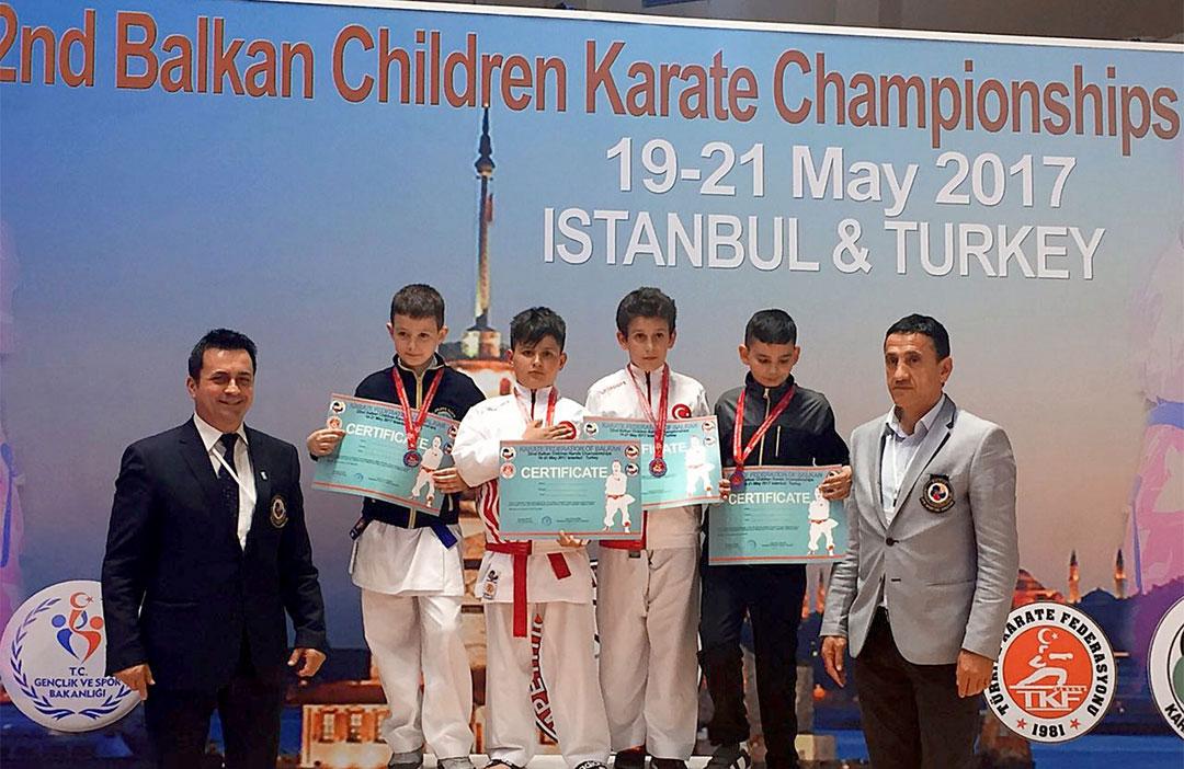 Öğrencimiz Karatede Balkan Üçüncüsü Oldu