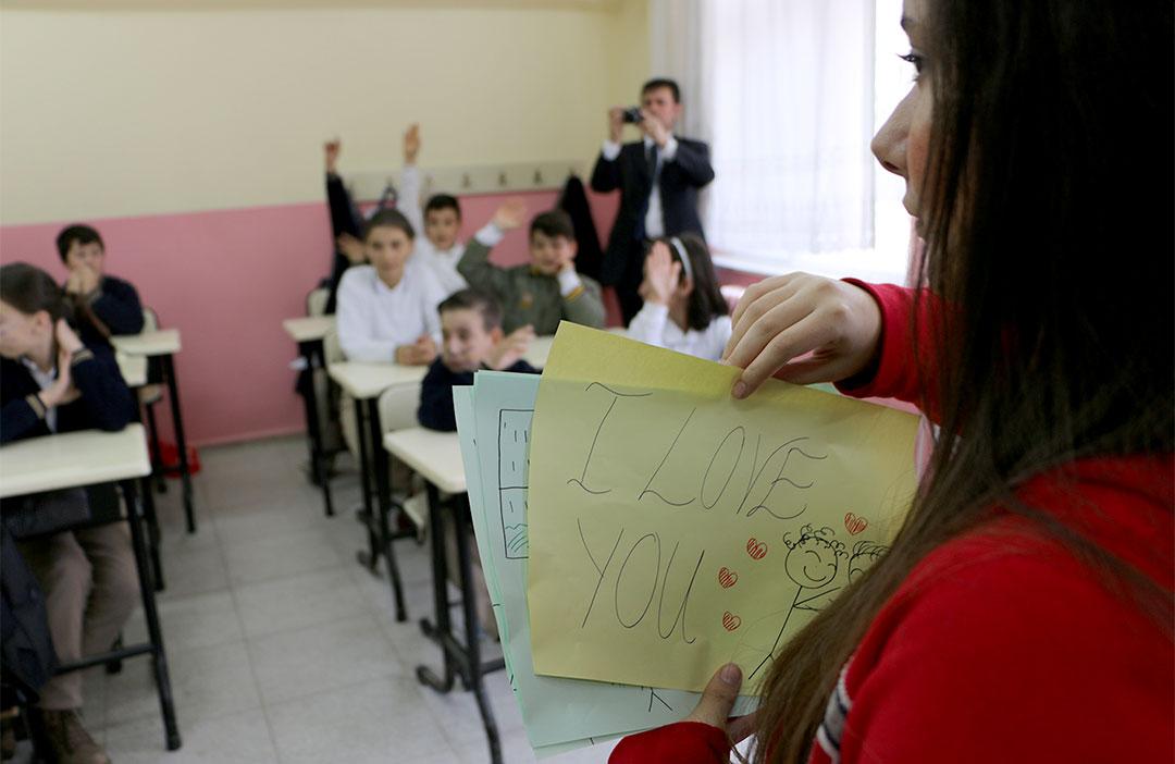 Öğrencilerimiz İngilizce Öğretti