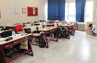 Özel Marmara Evleri İhlas Anadolu ve Fen Lisesinde Deprem Haftası münasebetiyle deprem ve yangın tatbikatı yapıldı.