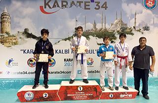 Türkiye Karate Federasyonu tarafından İstanbul'da düzenlenen Karate 34 Süper Lig Karate Şampiyonası'nda Karate Spor Kulübümüz üç birincilik iki ikincilik kazandı.