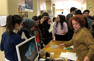 Özel Bahçelievler İhlas Fen Lisesi öğrencileri yabancı dil kültürünü daha yakından tanımak için Goethe Enstitüsü'nü ziyaret ettiler.