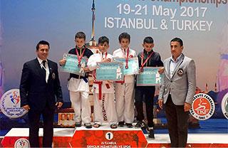22. Çocuklar Balkan Karate Şampiyonası'nda İhlas Koleji öğrencisi Emin Can İstanbullu Balkan üçüncüsü oldu.