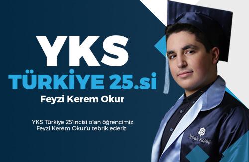 Öğrencimiz YKS Türkiye 25.si Oldu