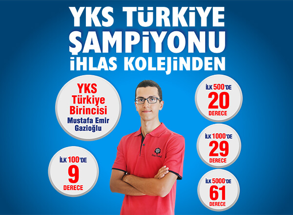 YKS Türkiye Birincisi İhlas Koleji'nden