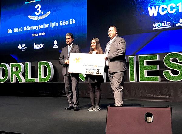 Öğrencimize Akıllı Şehirler Yarışmasından Ödül