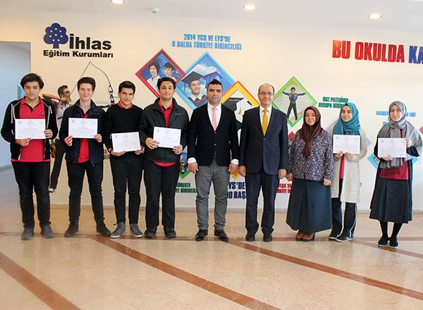 Bu yıl 21.'si düzenlenen Avrupa Gençlik Parlamentosu (EYP-The European Youth Parliament) Ulusal Seçim Konferansı Bursa'da yapılırken İhlas Koleji altı öğrencisiyle bu konferansta temsil edildi.