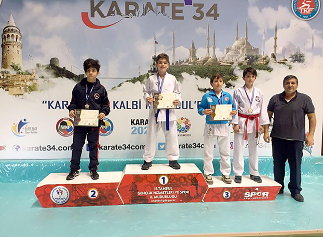 Türkiye Karate Federasyonu tarafından İstanbul'da düzenlenen Karate 34 Süper Lig Karate Şampiyonası'nda İhlas Koleji Karate Spor Kulübü üç birincilik iki ikincilik kazandı.