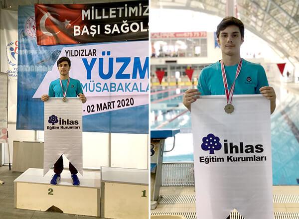 Özel Marmara Evleri İhlas Ortaokulu öğrencisi Bera Kayra Sarıkaya, Kocaeli'de düzenlenen Okullar Arası Yıldızlar Yüzme Marmara Bölge Yarışmaları'nda 1 gümüş 2 bronz madalya kazandı.